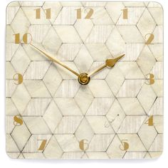 Ivory Wall Clock Modern Wall Clock Geometric Wall Clock Modern Clock... ($33) ❤ liked on Polyvore featuring home, home decor and clocks