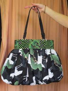 Green Black and White Oriental Purse by LoveliesByLodi on Etsy, $80.00