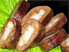 печёночные рулеты с салом