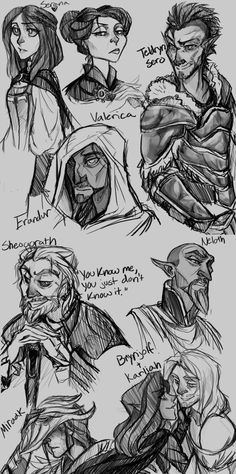 NPC Sketches 2 by the-Orator on DeviantArt