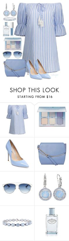 """Summer Dress Blues"" by gemique ❤ liked on Polyvore featuring Anastasia Beverly Hills, Steve Madden, Dorothy Perkins, Christian Dior, Brilliance, Prada, RMK and under100"
