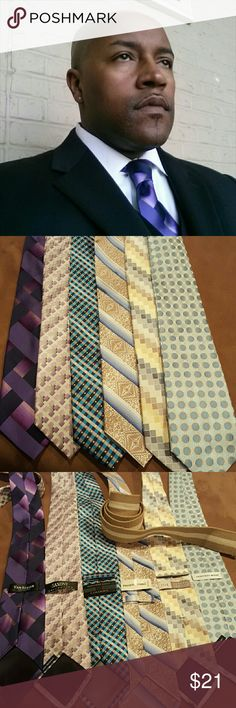 Beautiful Amazing Sharp Ties Bundle All these ties for hardly nothing.. oh yea, the belt comes with!!! Accessories Ties