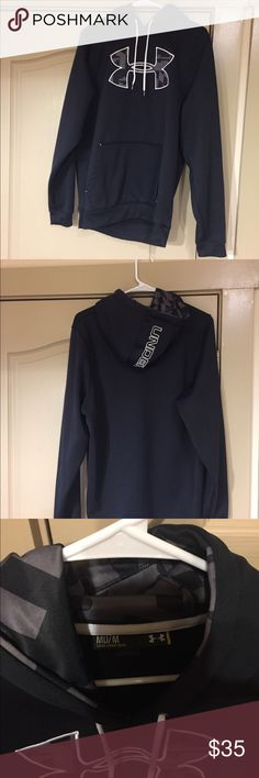Black Under Armour Hoodie Like new, worn once. Unisex size medium hoodie. Under Armour Shirts Sweatshirts & Hoodies