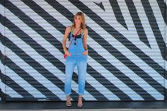 {the overalls} Distressed denim overalls, 90s trend is now back and ready to stay. Red gucci disco mini bag, grey mulco watch, ray ban sunnies and blonde ombre paired with schultz strappy sandals. Layered henri bendel rose gold dainty necklaces, and black strappy bralette crop top