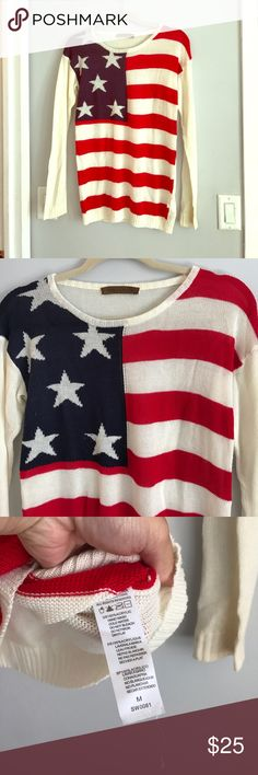 Tobi American flag sweater Tobi American Flag Sweater size medium only worn once cleaning out my closet! USA 🇺🇸 Tobi Sweaters Crew & Scoop Necks