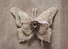 Como hacer Mariposas de arpillera