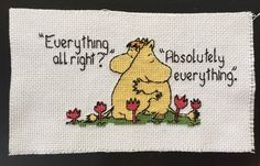 Post with 0 votes and 219 views. [FO] Moomin for an old friend and my first real project! Cross Stitching, Cross Stitch Embroidery, Embroidery Patterns, Cross Stitch Patterns, Stitching Patterns, Cross Patch, Old Friends, Needlepoint, Needlework