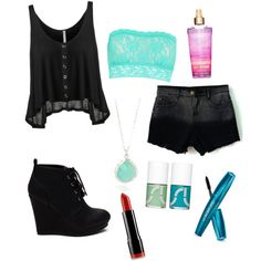 Concert outfit by emmyzaroff0127 on Polyvore featuring polyvore, fashion, style, Hanky Panky, NYX and Uslu Airlines