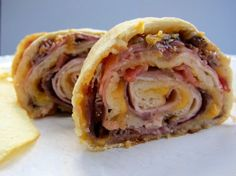 Baked Club Roll Ups - bacon, chesse, turkey, ham...rolled in a Pillsbury French Loaf