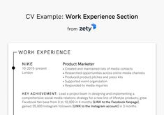 How to Write a Curriculum Vitae (CV) for a Job Application #zety #resumetemplate #coverletter #resumedesign #resumeexamples #resumetips #resumeexamplesforjobs #resume #resumelayout #resumewriting #resumeformat #perfectresume #bestresume Resume Layout, Resume Format, Resume Design, Job Resume Examples, Cv Examples, Best Resume, Resume Tips, Writing A Cv, Perfect Resume