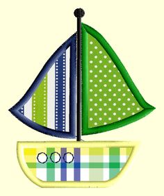 Preppy Sailboat Applique