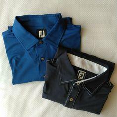 ba4922b9 Lot of 2 FootJoy Golf Polo Shirts Men's Large Royal Blue Navy Blue EUC FJ #