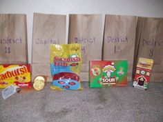 Gift ideas to send to your tributes from the Capitol and all thirteen districts. Great for Hunger Games party favors.