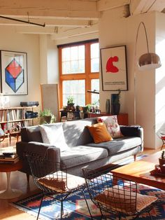 Sulu's Design. Ecclectic Industrial Living. Apartment Therapy