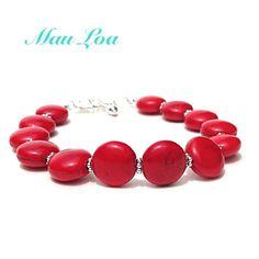Red stone bracelet   fine jewelry  all sterling by MauLoaJewelry, $38.00