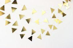 Gold Triangle Garland, Gold Arrow Garland, Gold Party Decor, Gold Baby Shower, Gold Wedding Decor, Gold Wedding Theme, Gold Bridal Shower