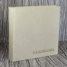 Personalised linen photo album  full bound by AllsoppBookbinders etsy