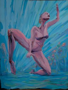 Wonder woman - bieg kolanowy #acrylic #artforfun #tybur