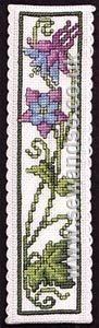 Buy Columbine Bookmark Cross Stitch Kit Online at www.sewandso.co.uk