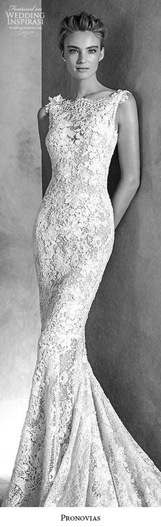 atelier pronovias 2016 haute couture bridal ilari sleeveless lace guipure gemstone mermaid wedding dress -- Atelier Pronovias 2016 Haute Couture Wedding Dresses #fashion #bridal #weddingdresses