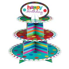 3 Tier Birthday Cupcake Stand