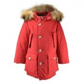 WOOLRICH RED FUR HOODED DOWN PARKA  From www.kidsandcouture.com