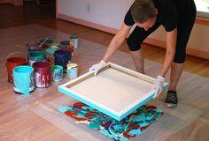 Cassandra Tondro pressing paint