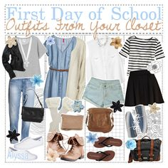 """""""First Day of School Outfits from Your Closet !"""" by aloha-tip-girls on Polyvore"""