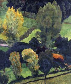 Paul Sérusier: Los Nabis y Pont-Aven – Trianarts Paul Gauguin, Georges Seurat, Landscape Art, Landscape Paintings, Happy Paintings, European Paintings, Impressionism Art, Pierre Bonnard, French Art