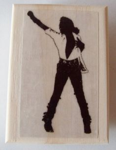MICHAEL JACKSON-Fully Bad New Mounted Rubber Art Stamp