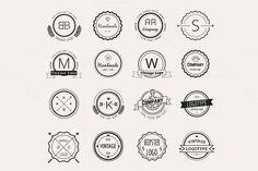 Hipster vector vintage logo set ~ Icons on Creative Market