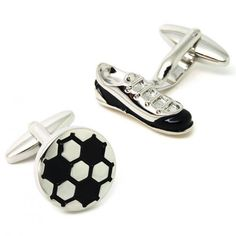Funny Football And Soccer Shoes Cufflinks
