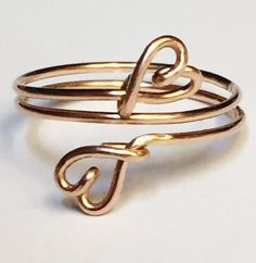 Heart Ring  Rose Gold Heart Ring   14K Gold by SpiralsandSpice