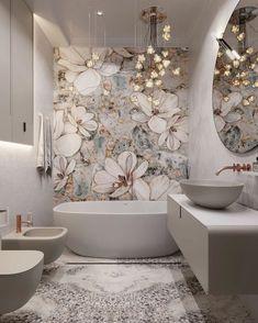 Bathroom Design Inspiration, Bad Inspiration, Home Decor Inspiration, Home Room Design, Decor Interior Design, Interior Decorating, House Design, Bathroom Design Luxury, Wallpaper Ideas