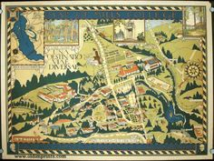 Map of Mills College. Enter to Search for Truth in Joyous Study - Depart to Use in Life the Truth Here Found.