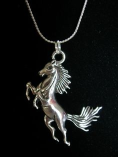 Horse Silver Color Necklace by JudysEtsyStore on Etsy, $9.99 on Etsy.com