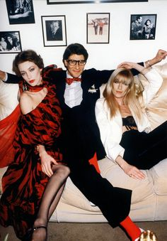 Loulou de la Falaise, Yves Saint Laurent and Betty Catroux by Guy Marineau, 1978
