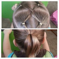 A simple way to add pizzazz to a simple ponytail