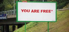 billboard text art by karina pais