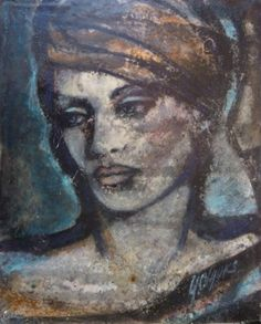 Yvonne Olgers: Portrait in blue and orange