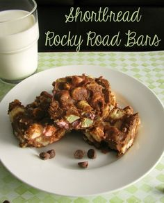 Shortbread Rocky Road Bars by asweetbaker.com  #shortbread #rockyroad #bars