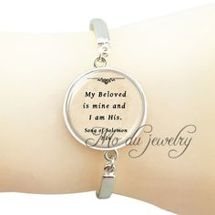 Personalized scripture jewelry Christian quote bangle bracelet bible faith quote jewelry silver spiritual bangle Psalm pendant #Affiliate