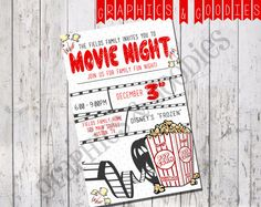 Hey, I found this really awesome Etsy listing at https://www.etsy.com/au/listing/222220479/movie-night-flyer