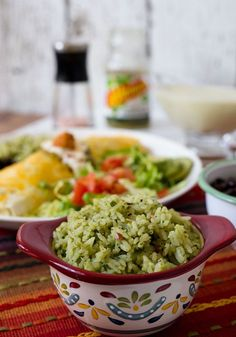 This Pressure Cooker Mexican Green Rice made with avocado cilantro and green salsa is a fabulous alternative to traditional Spanish rice. Pressure Cooking Today, Pressure Cooking Recipes, Slow Cooker Recipes, Mexican Rice Recipes, Green Rice, Avocado, Best Instant Pot Recipe, Spanish Rice, Dinner Entrees