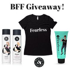 Share the love of Beauty & Pin-ups with your BFF! Like this account like this post and tag a friend to enter to win this package including Flaunt Shampoo and NEW Daily Conditioner NEW Fearless Hair Rescue Masque (6 oz.) and Fearless t-shirt!  Contest ends on Saturday January 21th and the winner will be announced the following day (1/22). Winner will be chosen at random from entries that qualify. #loveitliveitownit #beautyandpinups #yougotthis #confident #beauty #instabeauty