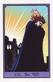 the Vampire Tarot . by Robert M.Place (the Sun)- for phillip