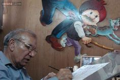 """""""If I could put a smile on the FACE of people, I would consider my life successful""""  By PRAN...                            ... World Famous cartoonist Pran Kumar, the man behind our's favourite comic Chacha Chaudhary, has dies."""