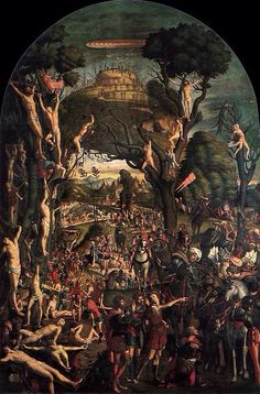 Martyrs of Ararat, Ten thousand Roman soldiers, led by St. Acacius, reportedly massacred on Mount Ararat, in modern Turkey. Italian Paintings, European Paintings, Catholic Art, Religious Art, Catholic Saints, Jean Fouquet, Venetian Painters, Andrea Mantegna, High Renaissance
