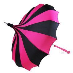 New pinwheel umbrella colors from Bella Umbrella - Magenta & Black