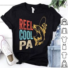 Reel cool papa fishing shirt, hoodie, sweater, longsleeve t-shirt Cool Fish, Fishing Shirts, Fishing Reels, Hoodies, Sweatshirts, Dads, T Shirts For Women, Cool Stuff, Long Sleeve